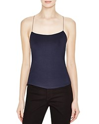 T By Alexander Wang Strappy Cami Tank Navy