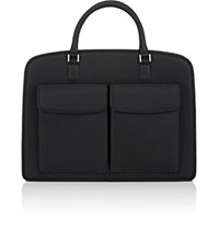 Barneys New York Men's Double Handle Briefcase Black