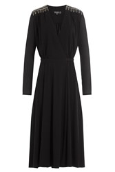 Etro Wrap Dress With Embroidered And Embellished Detail Black