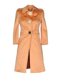Elisabetta Franchi Gold Coats And Jackets Full Length Jackets Women Apricot