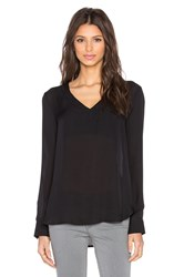 David Lerner Mitered V Neck Tunic Black