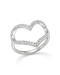 Kc Designs Diamond Heart Ring In 14K White Gold