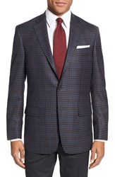 Men's Big And Tall Hart Schaffner Marx 'New York' Classic Fit Check Wool Sport Coat