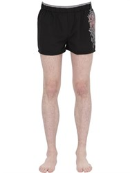 Just Cavalli Underwear Tribal Printed Nylon Swimming Shorts