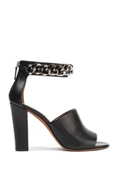 Givenchy Raquel Chain Embellished Sandals In Black Leather