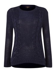 Therapy Cable Jumper Navy