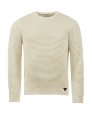 Realm And Empire Made In England Chunky Wool Jumper Cream