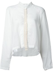 Lost And Found Rooms Semi Sheer Cropped Shirt White