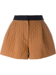 3.1 Phillip Lim Flared Quilted Shorts Brown