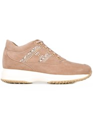 Hogan Chunky Sole Sneakers Nude And Neutrals