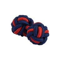Thomas Pink Classic Two Tone Cuff Knots Navy Red Navy Red