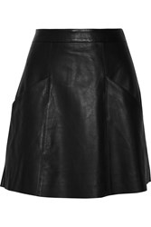 Joie Maisel Leather Mini Skirt Black