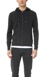 The Kooples Sport Hooded Zip Sweater Grey