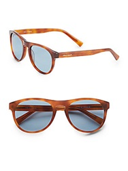 Cole Haan 55Mm Round Sunglasses Honey Tortoise
