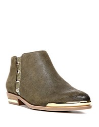 Fergie Indigo Leather Ankle Boots Evergreen
