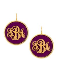 Monogrammed Circle Drop Acrylic Earrings Moon And Lola Green