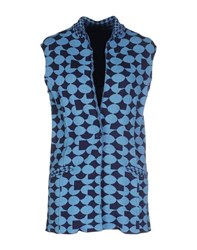 Devotion Knitwear Cardigans Women Blue