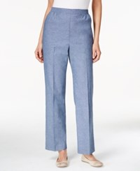 Alfred Dunner Pull On Straight Leg Pants Chambray