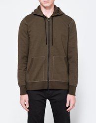 Reigning Champ Full Zip Hoodie In Olive
