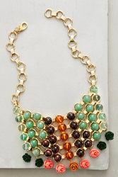 Dannijo Baez Bib Necklace Green Motif
