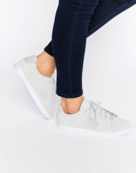 Le Coq Sportif Grey Nubuck Agate Lo Trainers With Glitter Trim Grey