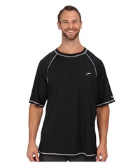 Speedo Easy S S Swim Tee Big Black Men's Swimwear