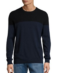 Black Brown Colorblocked Cashmere Sweater Pm Black