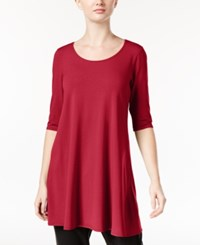 Eileen Fisher Jersey Scoop Neck Tunic A Macy's Exclusive Red Rose