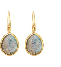 Astley Clarke Stilla Labradorite Drop Earrings Gold Grey