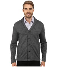 Perry Ellis Marled Shawl Cardigan Black Men's Sweater