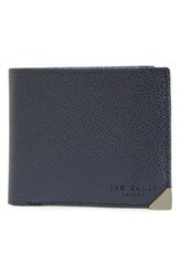 Men's Ted Baker London 'Metcor' Bifold Leather Wallet Blue Navy