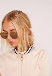Missguided Metal Frame Sunglasses Gold