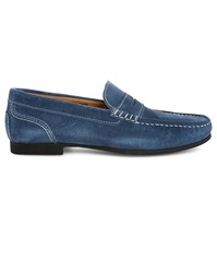 Sebago Navy Trenton Penny Suede Boat Shoes Blue