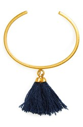 Madewell Women's Tassel Bangle Cuff Coastal Blue