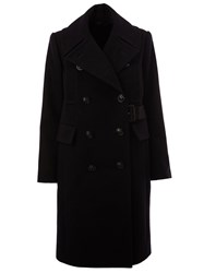 Sacai Double Breasted Coat Blue