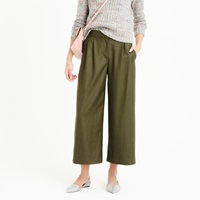 J.Crew Petite Cropped Pant In Wool Flannel