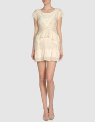 April May Short Dresses Beige