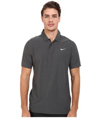 Nike Tiger Woods Velocity Woven Solid Polo Black Black Reflective Silver Men's Short Sleeve Knit