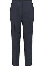Mother Of Pearl Chaucer Open Knit Wool Straight Leg Pants Blue