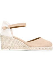 Castaner Castaner Wedge Espadrilles Nude And Neutrals