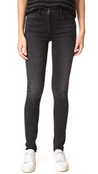 3X1 W3 Channel Seam High Rise Skinny Jeans Black 5