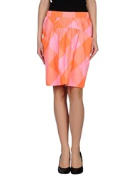 Marc By Marc Jacobs Skirts Knee Length Skirts Women Orange