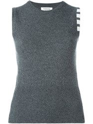 Thom Browne Knitted Sleeveless Top Grey
