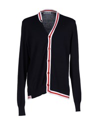 Bikkembergs Knitwear Cardigans Men Dark Blue