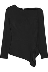 Roland Mouret Achra Stretch Crepe Top Black