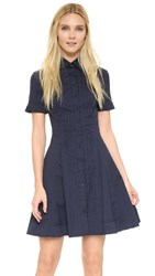 Yigal Azrouel Pleat Front Shirtdress Midnight