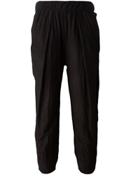Raquel Allegra Cropped Relaxed Fit Trousers Black