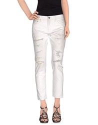 Johnbull Denim Denim Trousers Women White