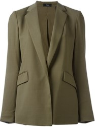 Theory Flap Pocket Blazer Green