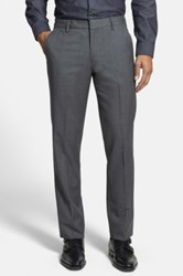 Bonobos 'Foundation' Flat Front Solid Wool Trousers Gray